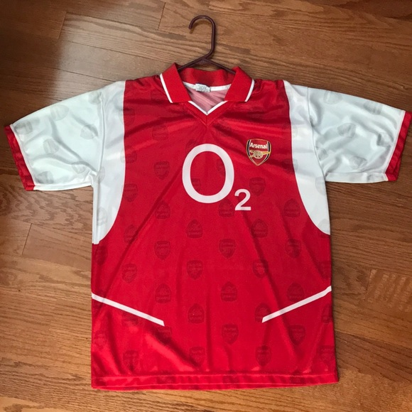 best service dd452 4a95d Arsenal Jersey O2 old retro shirt
